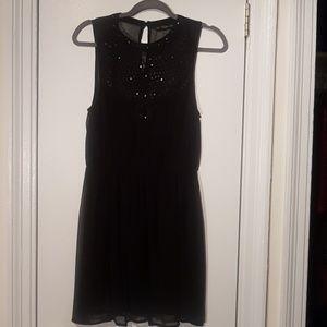 Zara Black Sheer Sleeveless Dress with Crochet